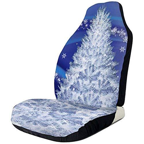 TABUE Juego completo de 2 fundas para asientos de coche, diseño de Papá Noel con muñeco de nieve