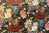 Italienischer Samt bedruckt Gold Age Blumen Meisterstück