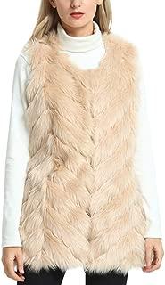 YIDUODE Faux Fur Winter Vest, Women's Fashion Sleeveless Fluffy Snaggy Soft Warm Coat