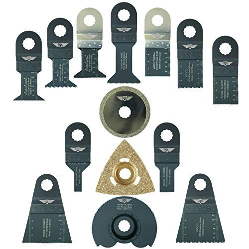 MT250 31328 8 x TopsTools RVK8 Mix Lames pour Draper MT250A 23038 Wickes 235510 Renovator Multitool Outil multifonctions Accessoires