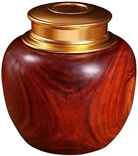 Ataúdes y urnas La cremación de madera Urna Funeraria Memorial urna, Be applicable compatible for personas y mascotas, cenizas de palo de rosa, del sello de vacío de doble tapa y tornillo de cierre, 4
