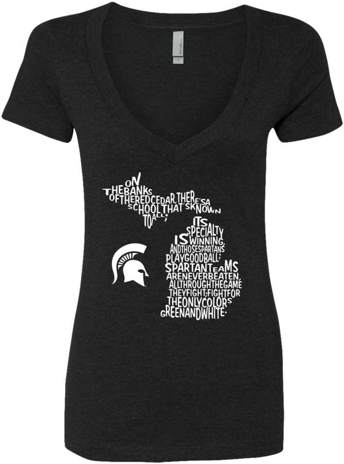 FanPrint Michigan State Spartans T-Shirt Fight Super sale High material Song Inside Sta -