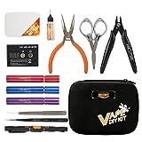 JAKEMY Kit de herramientas 12 en 1 Vape DIY profesional destornilladores de precisión Kit de herramientas de reparación para fumar conjunto con bolsa de lona