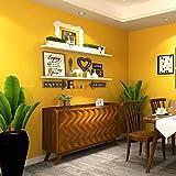 Giow Papel Pintado, Color Liso Color Liso Dormitorio Amarillo Sala de Estar Papel de Pared Cuarto de niños Tienda de Ropa Tienda de Instrumentos Musicales a Prueba de Agua Papeles Pintados (Color