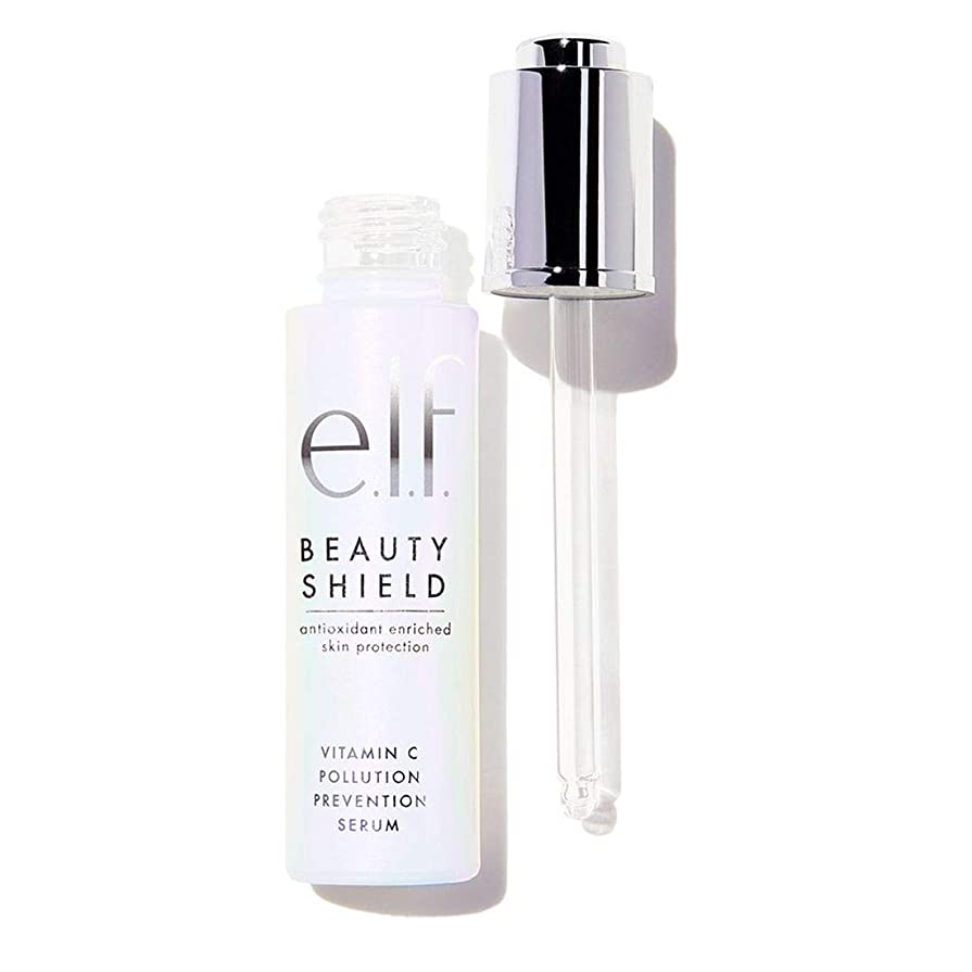 野菜伝染性のポーチ(3 Pack) e.l.f. Beauty Shield Vitamin C Pollution Prevention Serum (並行輸入品)
