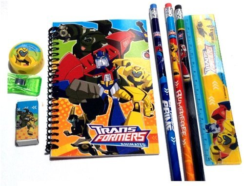 1 X Transformers Pencil Case and Stationary Set (Black)-gift Set for Boys