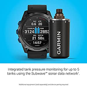 Garmin Descent Mk2i/Descent T1 Bundle, Smaller-Sized Watch-Style Dive Computer with Air Integration, Multisport Training/Smart Features, Titanium Gray with Black Band, (010-02132-03)