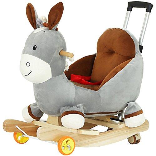 Enfant Rocker Toddler Rocker Infant Rocker Cheval à bascule en bois massif fauteuil à bascule de 1-4 ans bébé jouet double usage bébé voiture -LI JING SHOP (Couleur : #-001)