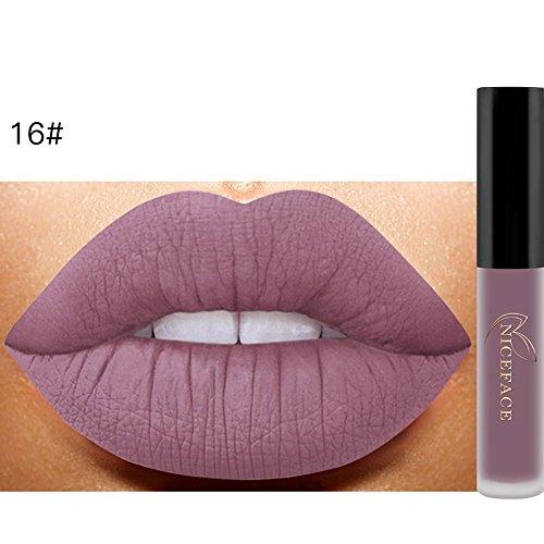 KanLin1986 Lápiz labial líquido mate Brillo Labial Maquillaje Impermeable #4