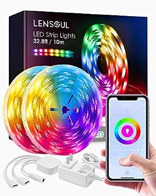 Led Strip Lights 32.8ft 10m with Flexible Color Changing LEDs Light Strips Kit for Home, Bedroom, Kitchen, DIY Decoration