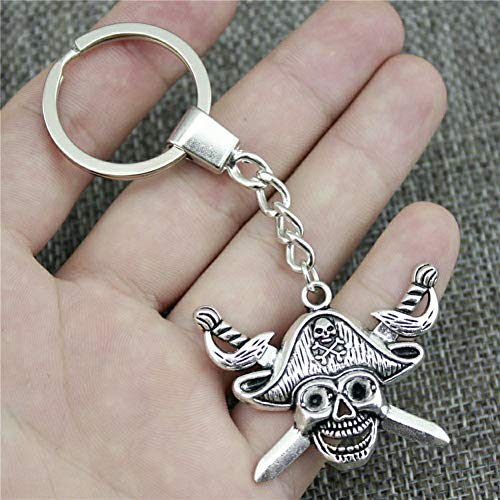 YCEOT Portachiavi 45X34MmSword 2 Colors Antique Bronze Silver Plated Color Men Jewelry Car Key Chain Ring Holder