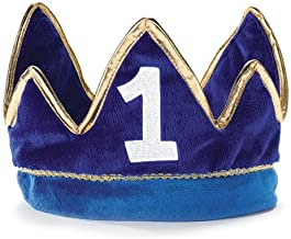1st Birthday Boy Prince Party Supplies - Plush Crown