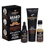 Woody's Beard Stuff 3 Piece Kit - Beard and Tattoo Oil, Beard Wash, 2-in-1 Beard Conditioner 2