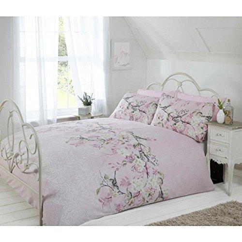 Eloise Duvet Cover Set, Polyester-Cotton, Pink, Single