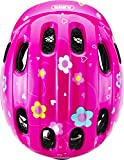 ABUS Smiley 2.0 Kinderhelm - Robuster Fahrradhelm für Mädchen und Jungs - 72567 - Pink mit Schmetterlingsmuster, Größe M - 4