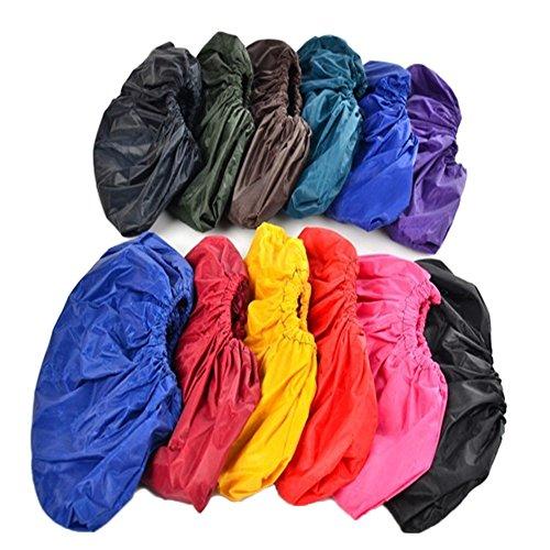 Hustar 10 Paar Regenüberschuhe Schuhe Abdeckung Schuhüberzieher Ponchotuch Überschuhe für Erwachsene Kinder
