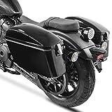 Alforjas Rigidas Maletas Laterales para Motos Custom Dallas 20l Negro