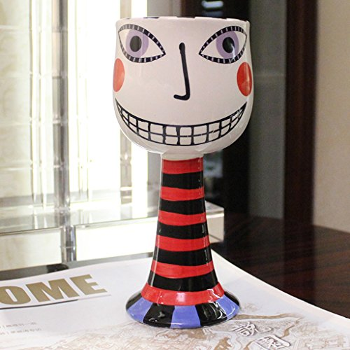 LRW Fashion Personality Ice Cream Cups Painted Goblet Cartoon Ceramic Cups Creative Champagne een glas rode wijn rode Kop van Coffee Cups