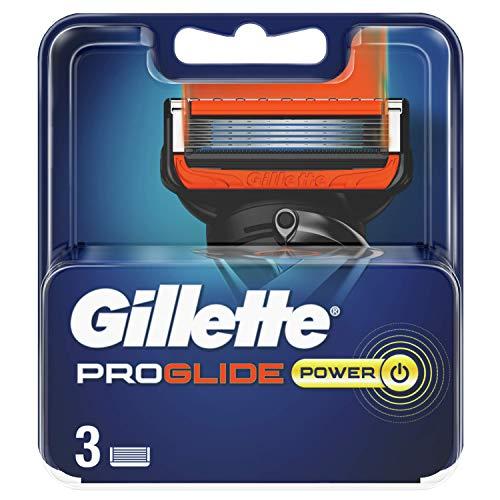 Gillette ProGlide Power Cuchillas de Afeitar Hombre, Paquete de 3 Cuchillas de Recambio
