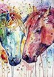 CloudShang Salon de Decoracion De la Lona Arte Pintura Caballo Pared Arte Cuadro Animal Acuarela Poster Moderno Caballo Salon Recamara Oficina Pared Caballo Impresiones I14123