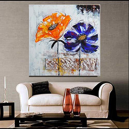 WSNDGWS Obra de Arte Resumen Floral Pinturas al óleo Estilo Imagen Foto sobre Lienzo Arte de la Pared para el Dormitorio Decoraciones para el hogar