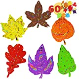 SUPER VALUE PACK. Our Fall Coloring Leaves Notes Scratch Paper Ornaments includes 60 pieces of magical leaves notes with 6 different designs, 12 scratch paper stylus wood sticks, and 60 pcs of ribbons. REAL FUNCTION. Art Scratch Leaf Shaped Paper Tag...