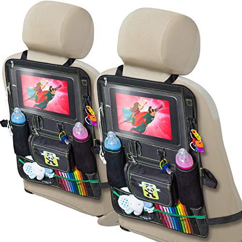 2 Pack Backseat Car Organizer for Kids, Babies and Toddlers, with Tablet Holder by iPad Touch...