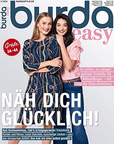 Burda easy Nähmagazin 2020#01 Frühling-Ausgabe Schnittmuster für Nähanfänger
