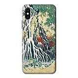 JP2491IXS 北斎 霧降の滝 Hokusai Kirifuri Waterfall at Kurokami Mountain in Shimotsuke iPhone XS ケース
