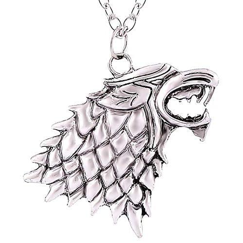 Inception Pro Infinite Collana Metalupo della Casata Stark - Game of Thrones - Trono di Spade - Jon Snow