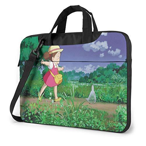 15.6″Lightweight Laptop Notebook Shoulder Backpack Bag My Neighbor City Waterproof PC Briefcase Messenger with Strap