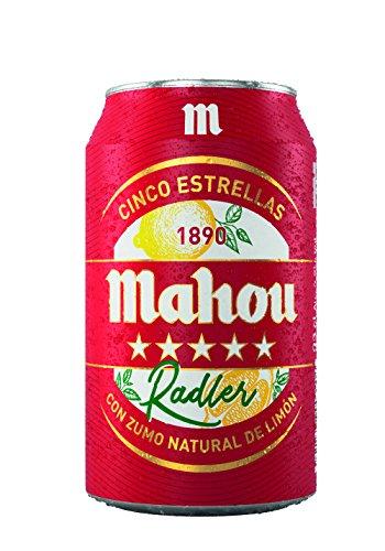Mahou 5 Estrellas Radler Lata de 33 cl - Cerveza Radler, 3,2% Volumen de Alcohol