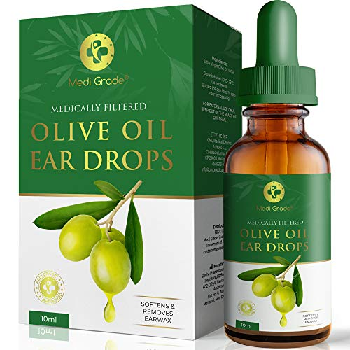 Olive Oil Ear Wax Remover Drops – 100% Pure Earwax Removal Olive Oil,...