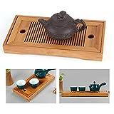 Tee-Tablett,Geschmackvolle Bambus japanischen/chinesischen Gongfu Tee Tisch,Teetisch aus Bambus...