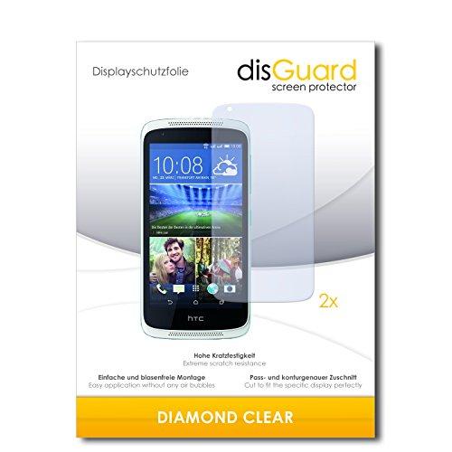 disGuard 2 x Bildschirmschutzfolie HTC Desire 526G Dual SIM Schutzfolie Folie DiamondClear unsichtbar