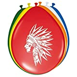 Folat Farbige Luftballons Indianer 8er Pack