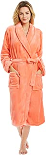 Womens Fleece Robes, Soft Plush Long Bathrobe, Thick Kimono Robes for Womens, Warm House Coat