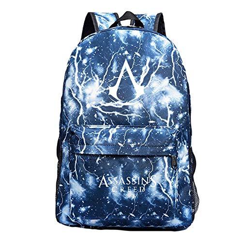 Unisex Assassin'S Creed Mochilas Escolares Juveniles Mochila de Lona Portátil Paquete de Asalto al Aire Libre Deporte para Niño y Niña