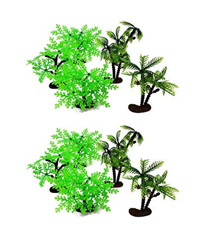 Arcady 12PC Mini Toy Jungle Trees Wide Bushy Trees and Tall Trees