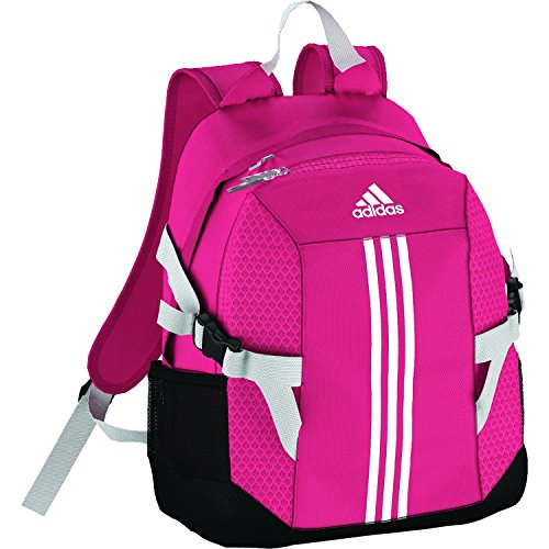 adidas BP Power II - Mochila para niño, Color Rosa/Blanco, Talla M