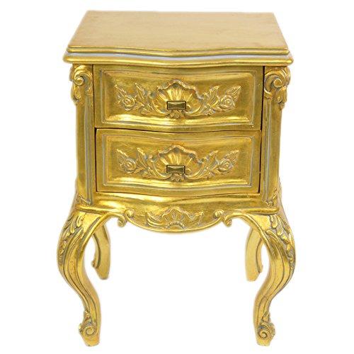 Casa Padrino Barock Kommode Gold H 70 cm, B 50 cm, T 40 cm - Nachttisch Kommode - Italienische Stil Möbel