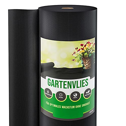 GardenGloss 100m² Tela Antihierba contra Las Malas Hierbas – Mallas Antihierba Resistente al Desgaste 50g/m² – Alta estabilización UV (100m x 1m, 1 Rollo)