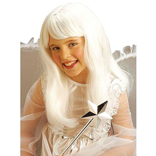 NET TOYS Perruque pour Enfant Ange Blanc Perruque d'ange Enfants Perruque Perruque pour Ange