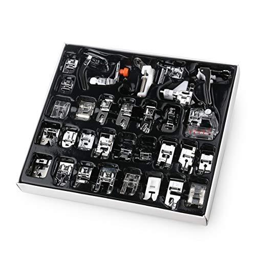 iplusmile Naaivoeten - Naaimachineset Multifunctionele Metalen Machine Accessoire Naaivoeten Set Zoom Naaivoet Voor Naaimachine (32-Delig)