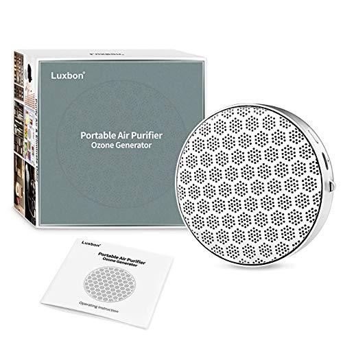 Luxbon Maquina Ozono Purificador de Aire Hogar con 2 Velocidades Generadores de Ozono para el Dormitorio Oficina Coche Refrigerador Bolsa