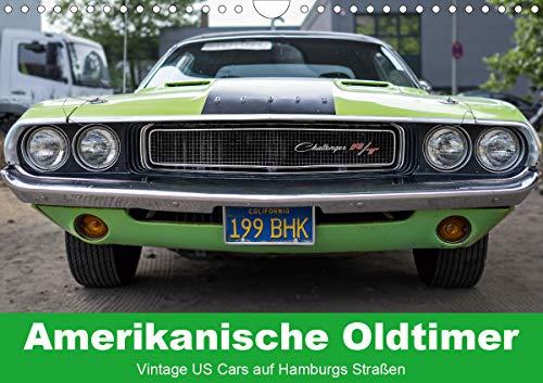 Amerikanische Oldtimer - Vintage US Cars auf Hamburgs Straßen (Wandkalender 2021 DIN A4 quer)