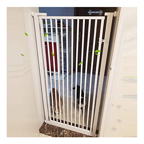 Barrera De Seguridad para Niños, 120cm De Altura Puerta De La Escalera para Perros Mascota Fácil De Instalar A Escalera Interior Puerta, Tamaño Personalizado (Color : White, Size : 110cm-119cm