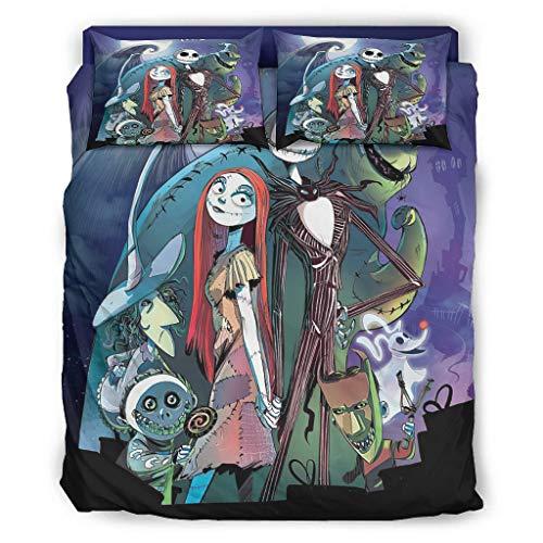 Halloween Nightmare Sally-Jack Super Soft Bedspread Coverlet Set Bedding Set Ultra-Soft Luxurious Lightweight All Season for Girls Boys Bedroom White Queen
