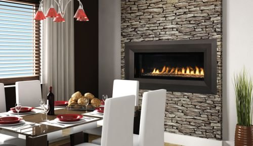 Sale!! 43 Millivolt Linear Vent-Free LP Fireplace- Lights & Glass Pebbles