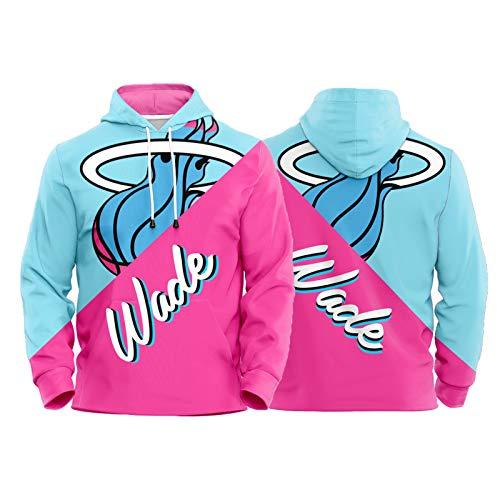 JUQI Sudadera con capucha Dwyane Wade de Miami Heat 3# 2021 edición de la ciudad de la temporada nueva chaqueta de baloncesto unisex, ropa deportiva de manga larga (XS-2XL) Wade-L